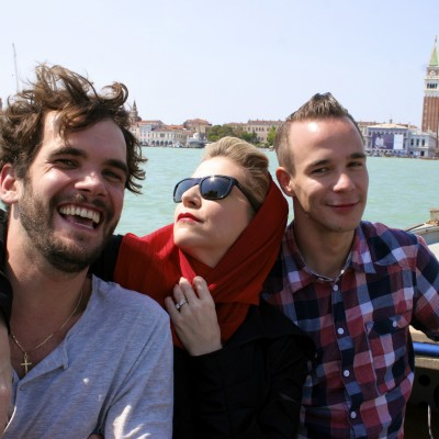 The wonderful camera crew in Venice who worked long hours to finish up the filming and recording process. ©Ralf Pleger