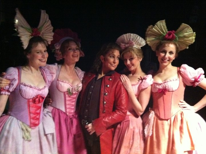 Just staying in character: Isolier and his adoring throng of girls.  What can I say?