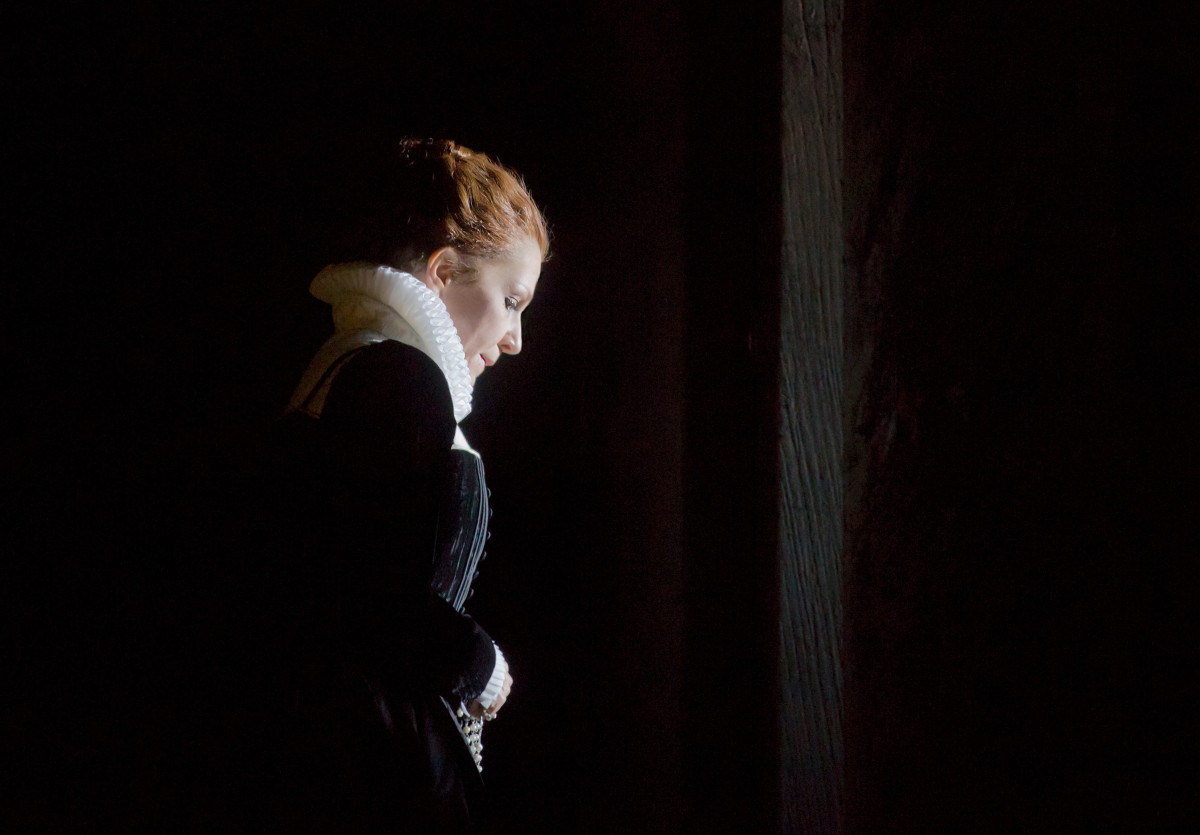 Finally ~ relief is hers, as she has confessed and received absolution. Maria now has the courage to face her people and her death. Photo © Ken Howard